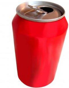 lata roja de soda