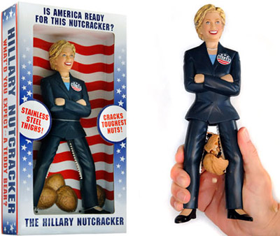 Hillary rompe nueces