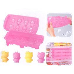 Cubitos de hielo con forma de Hello Kitty