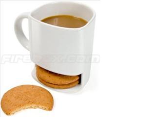 Taza con compartimento para galletas