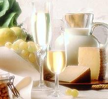 Exposicion de queso y vino