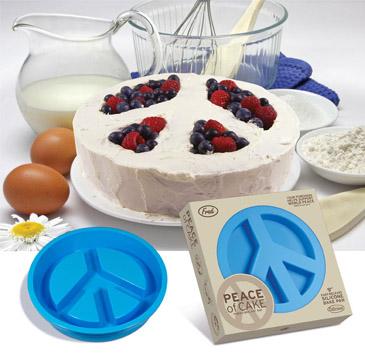 Simbolo de Paz en un pastel