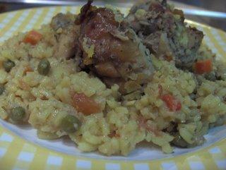 receta de arroz con pasas y pollo