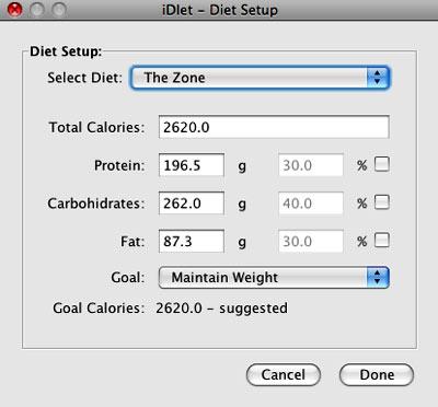 idiet, software para dietas y control de peso y calorias