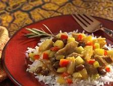 platillo de curry con carne