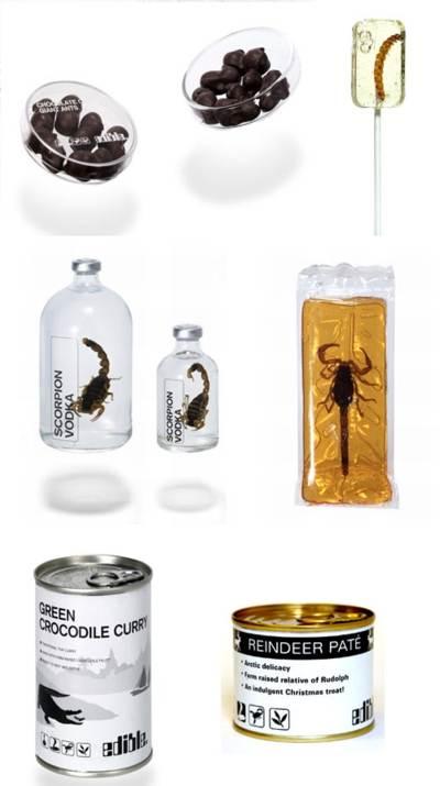 comidas con insectos