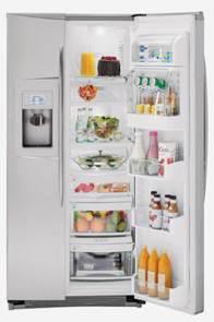 frigorífico con alimentos en su interior