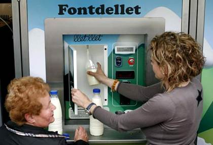 Máquina de leche pasteurizada