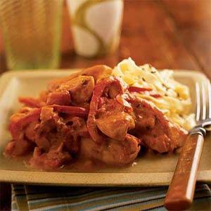 Pollo con paprika