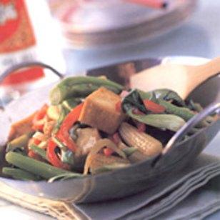 Vegetales con tofu