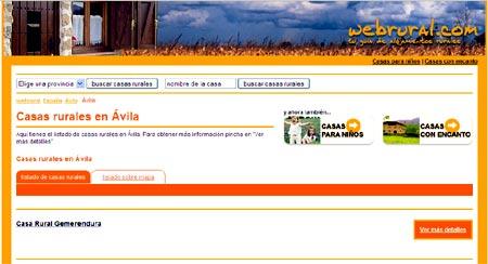Hospedate en las casas rurales en Avila