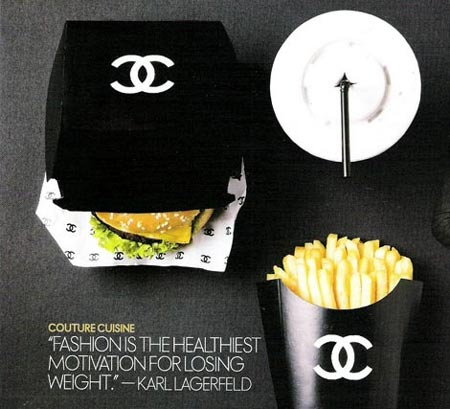 Comida rapida con el estilo fashion de Chanel