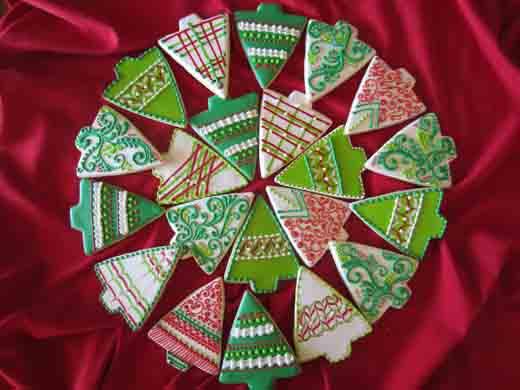 Galletas de árbolito de navidad