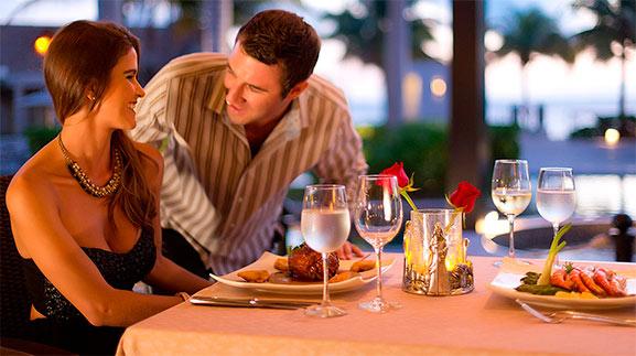 Cenando en Cancún, comida de lujo